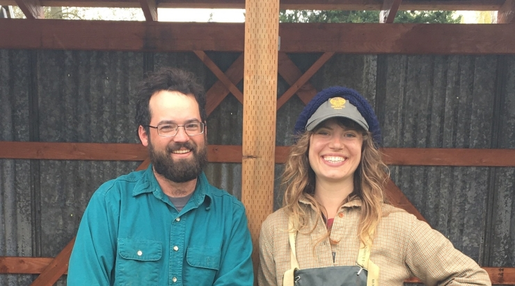 Your farmers! Arielle is frequently at CSA pickup, and loves to visit with members about cooking and whats happening on the farm and in your world. Taylor is usually in the field during pickup but he loves to see you and always enjoys your smiles and waves!